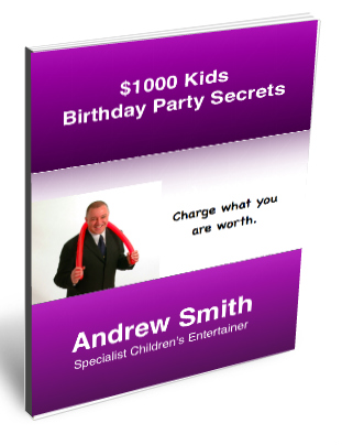 $1000 Kids Birthday party book cover